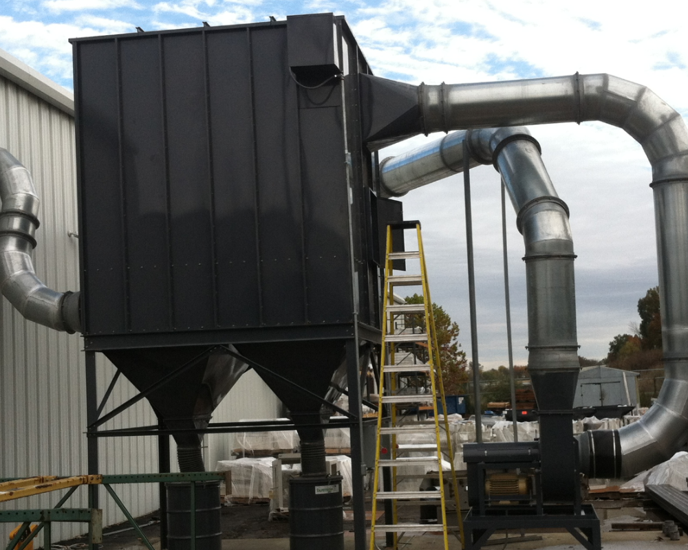 Clean air for an industrial steel assembly plant